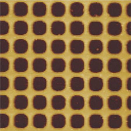 Cobalt anti-dot structure